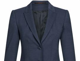 Bild des Blazers im Regular Fit in pinpoint dunkelblau aus der Elis Office Line Modern 37.5 Kollektion